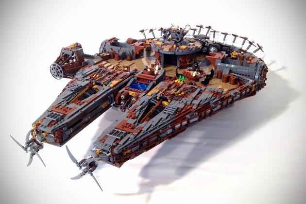 Custom Steampunk LEGO Star Wars Millennium Falcon