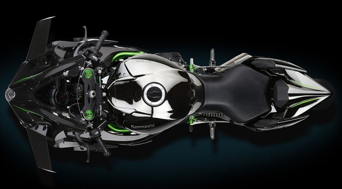 Supercharged Kawasaki Ninja H2R Looks Like a Bat Out of Hell