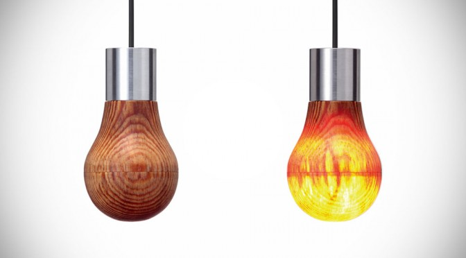 LEDON Wooden Light Bulb by Ryosuke Fukusada