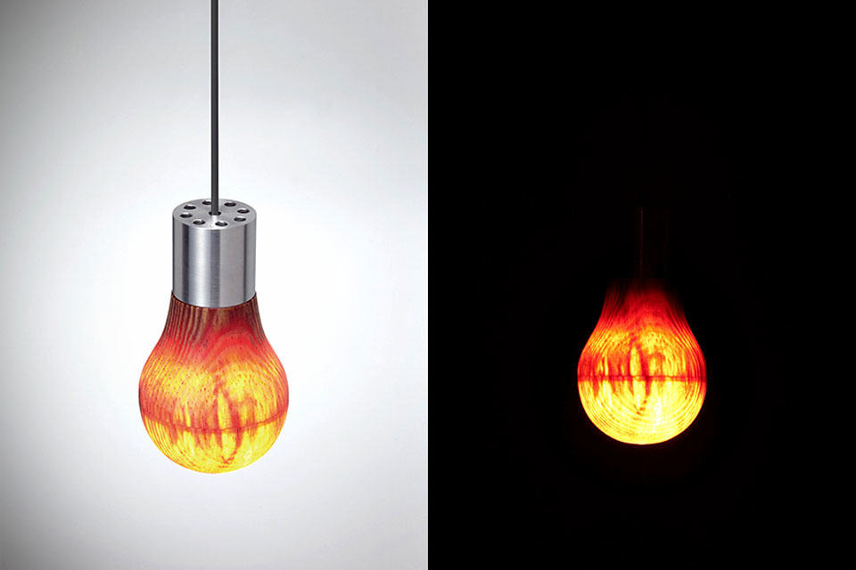 This Is A Wooden Light Bulb And Yes It Actually Lights Up & Low Heat Light Bulbs - Democraciaejustica