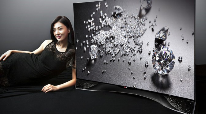 LG Curved OLED TV With Crystal Stand