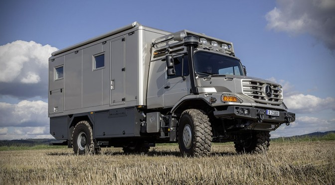 Mercedes Benz Zetros With Mobile Home Body