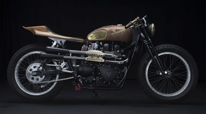 Sarah Lahalih's Steampunk Triumph Scrambler by Garage Company