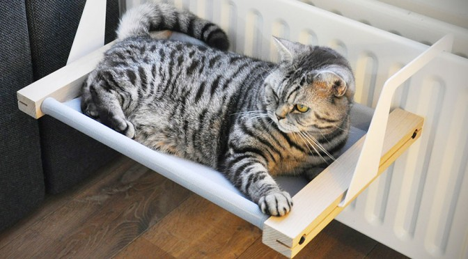 woozy hammock bed for cats woozy is the first cat hammock that lets you hang on the radiator      rh   mikeshouts
