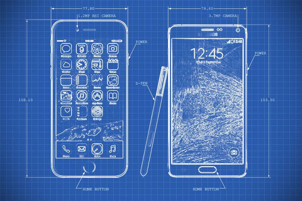 Samsung Galaxy  Vs Iphone
