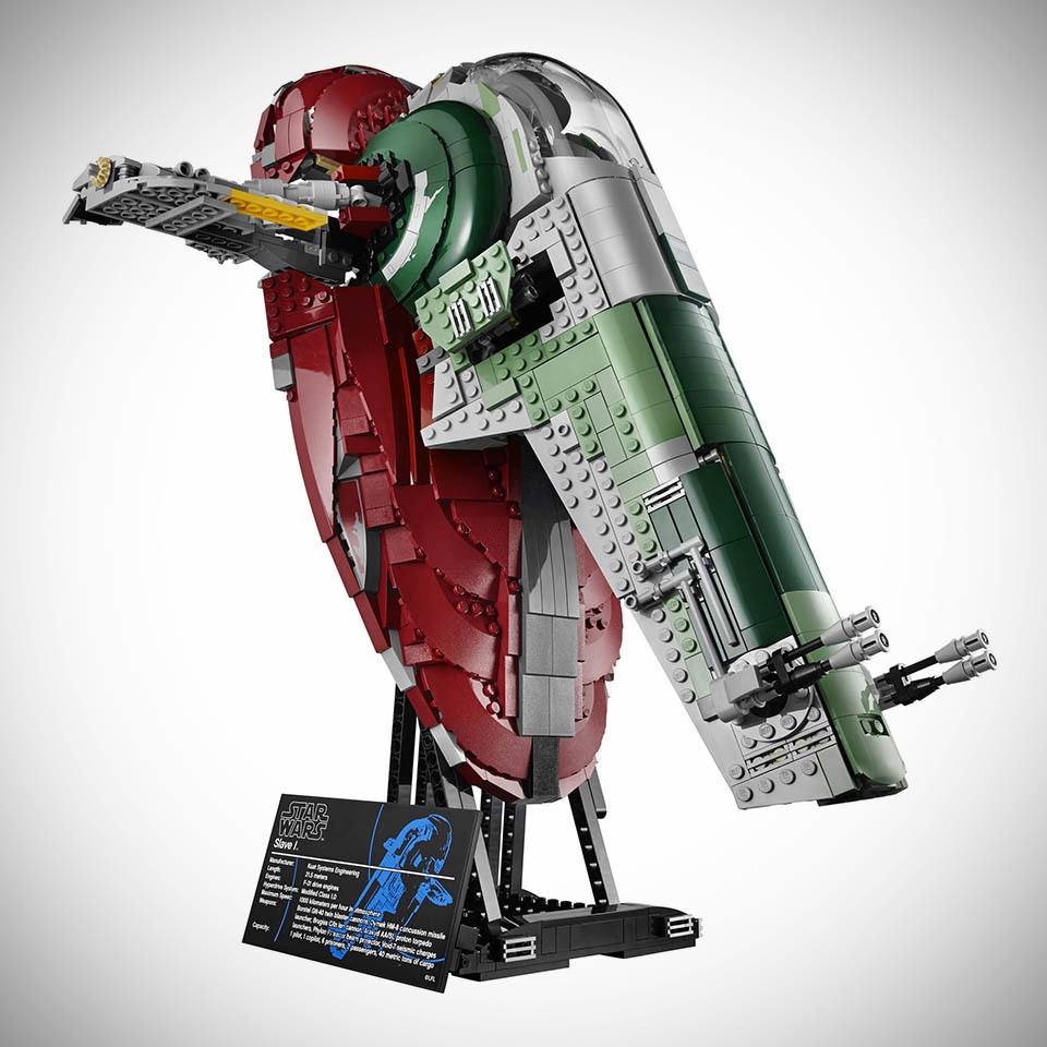 Lego star wars slave i ucs is minifig scale comes with 5 minifigs including han solo in - Lego star warse ...