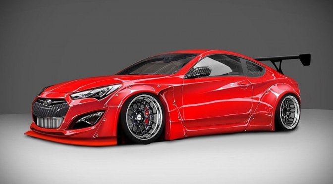 Hyundai Teamed Up with Blood Type Racing to Create a 1,000 Brake Horsepower Genesis Coupe
