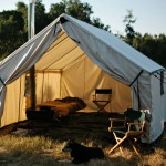 Canvas Wall Tent Lets Up to Four Person Brave the Elements in Maximum Comfort and Convenience