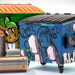 These Dumpsty Artist Editions Let You Organize Your Desk with Dumpsters Decorated by Prolific Street Artists
