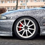 Artist Wife Gave Husband's R33 Nissan Skyline GTR a Seriously Stunning Pen Job. Yes. We Said 'Pen Job'