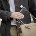 Paper-sized Water Bottles Let You Bring Water Along Without the Bulge in Your Laptop Bag