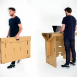 Refold is a Foldable, Portable, 100% Recyclable Cardboard Standing Desk That Cost Less Than $130