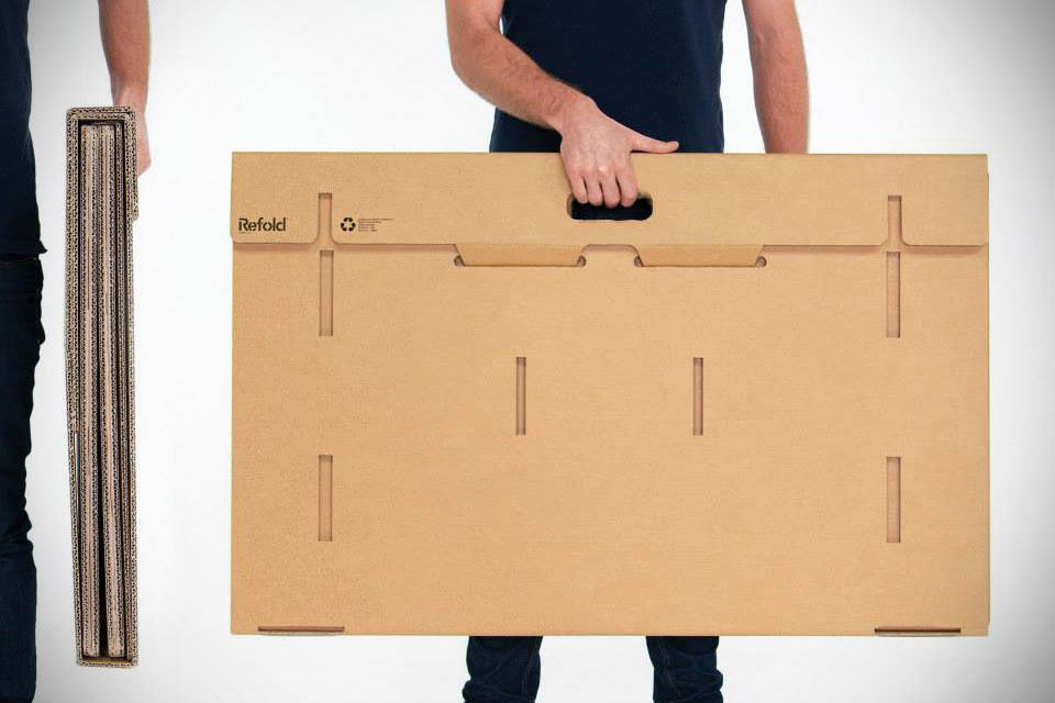 Refold Is A Foldable Portable 100 Recyclable Cardboard