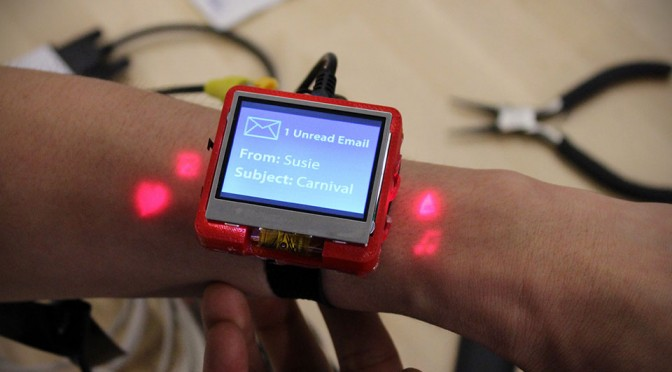 Smartwatch with Projection Buttons