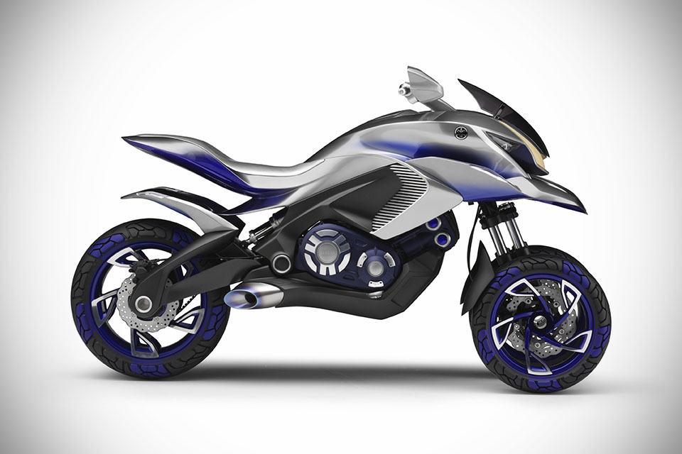 yamaha 01gen concept trike looks like a vehicle from robotech mikeshouts. Black Bedroom Furniture Sets. Home Design Ideas