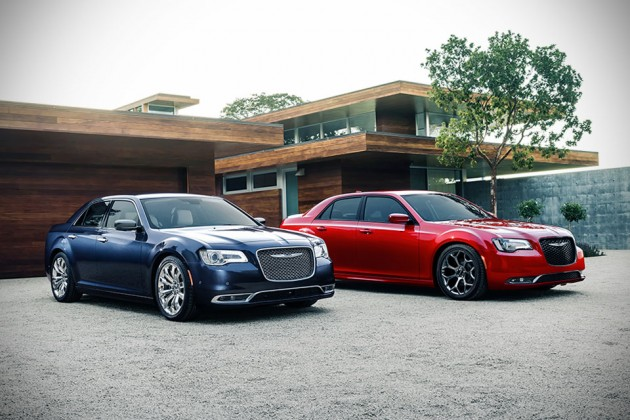 2015 Chrysler 300C Platinum (left) and 300S (right)