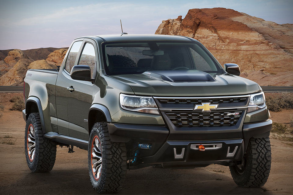 Chevrolet Pick Up 2017 >> Chevrolet Colorado ZR2 Concept: Off-road Trucks Never Look This Good - MIKESHOUTS