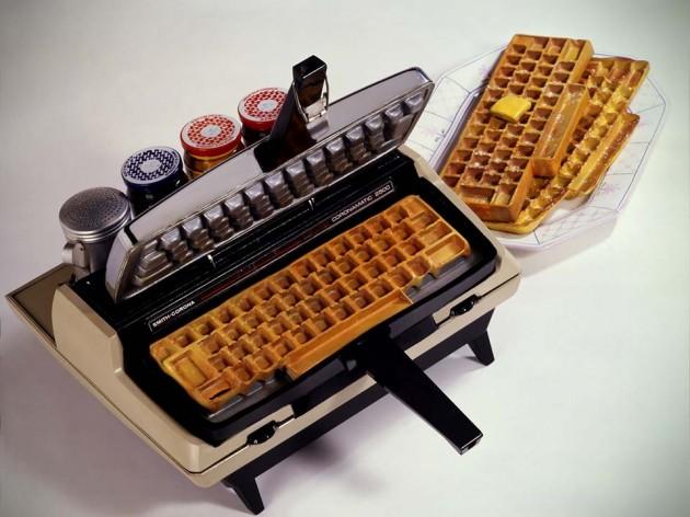 Corona-matic typewriter waffle iron