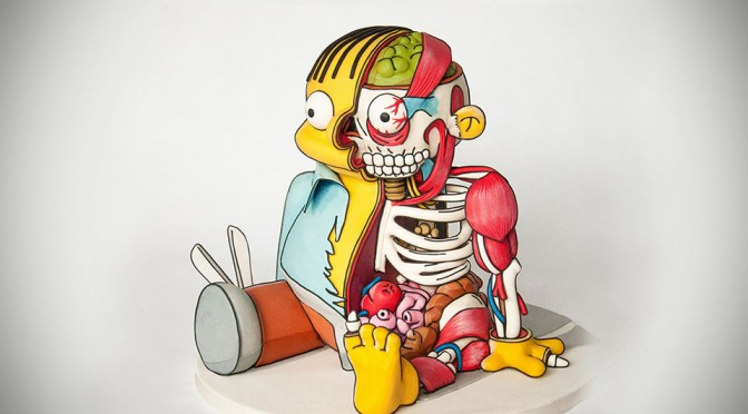Dissected Ralph Wiggum Cake by Freshly Squeez'd