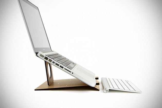 Flio Portable Wooden Laptop Stand