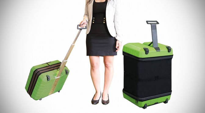Carry-on or Full-size Luggage? Fugu is Both in a One-piece, Expandable System