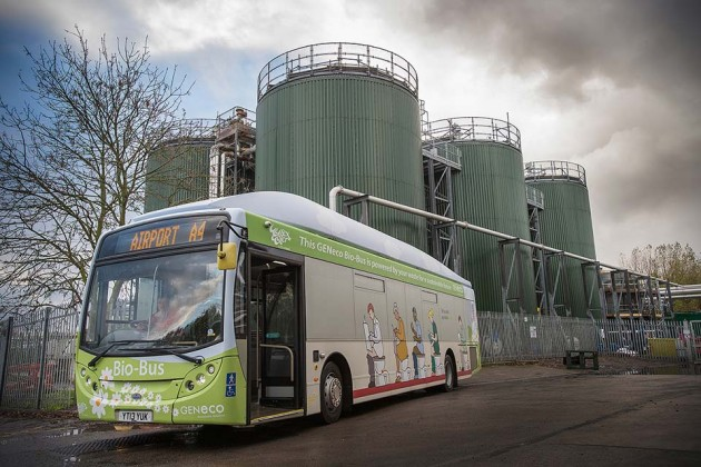 Human and Food Waste-powered Bio-Bus by GENeco