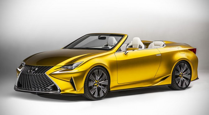 Lexus LF-C2 Concept Breaks Auto Design's Tradition by Having a Roadster that Sits Four