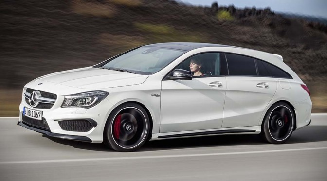 Mercedes-Benz CLA Shooting Brake Unveiled, Includes a 360HP AMG Variant