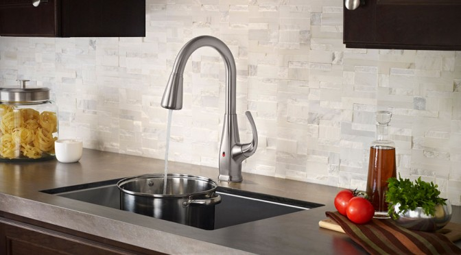 Pfister REACT Brings Touchfree Faucet To Your Kitchen MIKESHOUTS - Touch free kitchen faucet