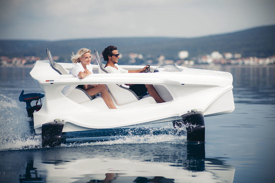 Quadrofoil Electric Hydrofoil Personal Watercraft Lets You