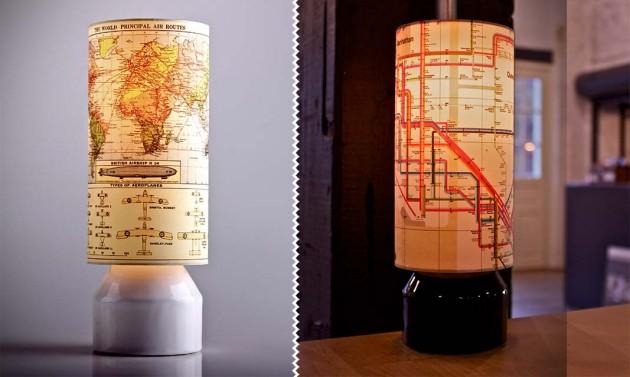 Slim - Lamp with Printed Art Shades