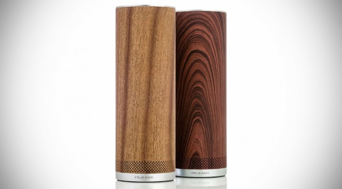 Stellé Audio Soups Up Its Pillar Wireless Speakers with Wood Finishes