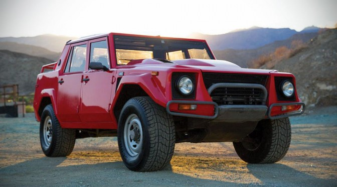 "Here's Your Chance To Own a Pristine Condition 1989 Lamborghini ""Rambo Lambo"" LM002"