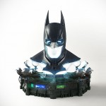 Awesome Batman Arkham Origins Batman Full Scale Cowl Replica Makes A Cool Lamp Too