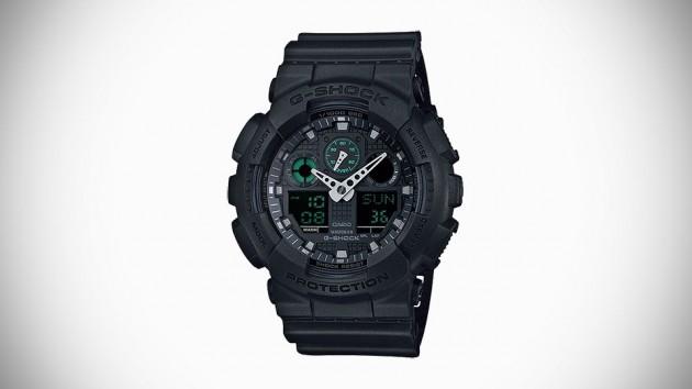 Casio G-SHOCK Military Black Series Watch For 2015 - GA-100MB