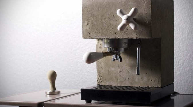 These Are Real Working Espresso Machines Made of Concrete and Kitchen Countertops Material