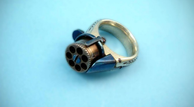 In 1870s, They Actually Had Ring Pistol That Shoots Tiny Bullets