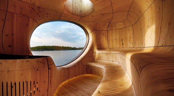 Grotto-inspired Sauna Has a Sinuous Interior, is Possibly the Boldest Sauna We Have Seen So Far