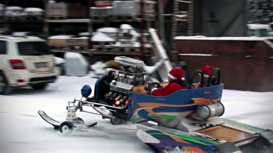 Santa: Why Fly When You Could Cut The Snow In This 500HP Snow Sled ...