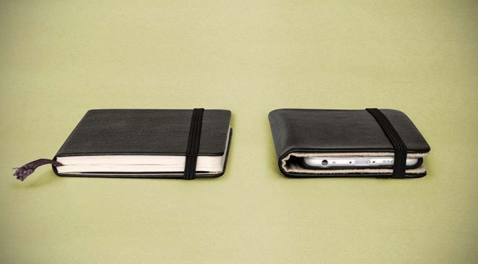 Turn Your iPhone 6 into a Notebook with Moleskine Smartphone Cover
