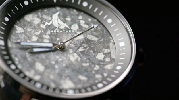 Plug & Feather Stone Face Wrist Watches image - Snowflake Osidian