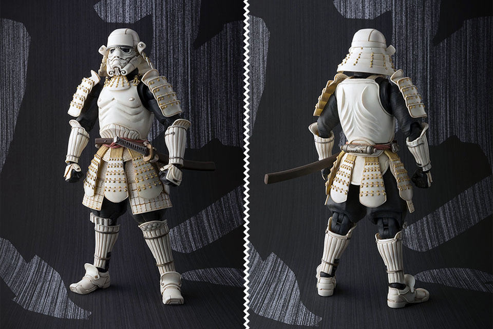this is how darth vader and stormtrooper looks like as samurai