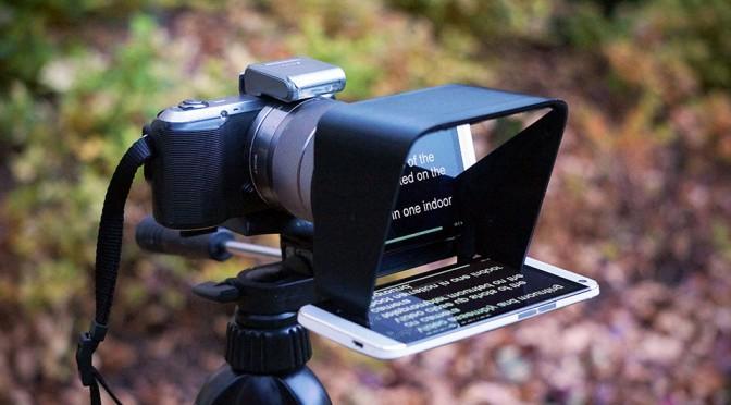 The Parrot Teleprompter for DSLR Cameras