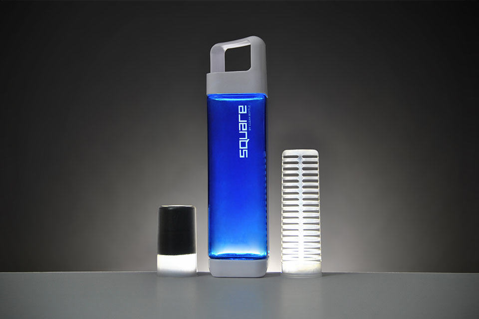 All New Square Water Bottle Is A Water Filter And A Fruit