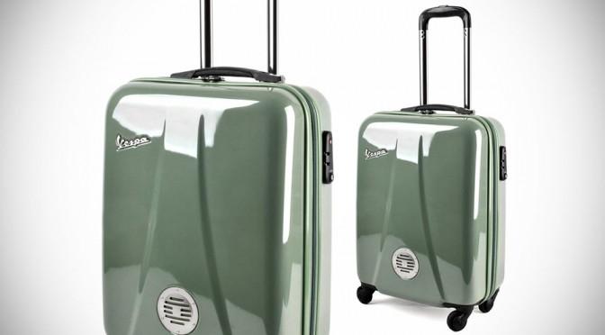 Vespa Khaki Suitcase