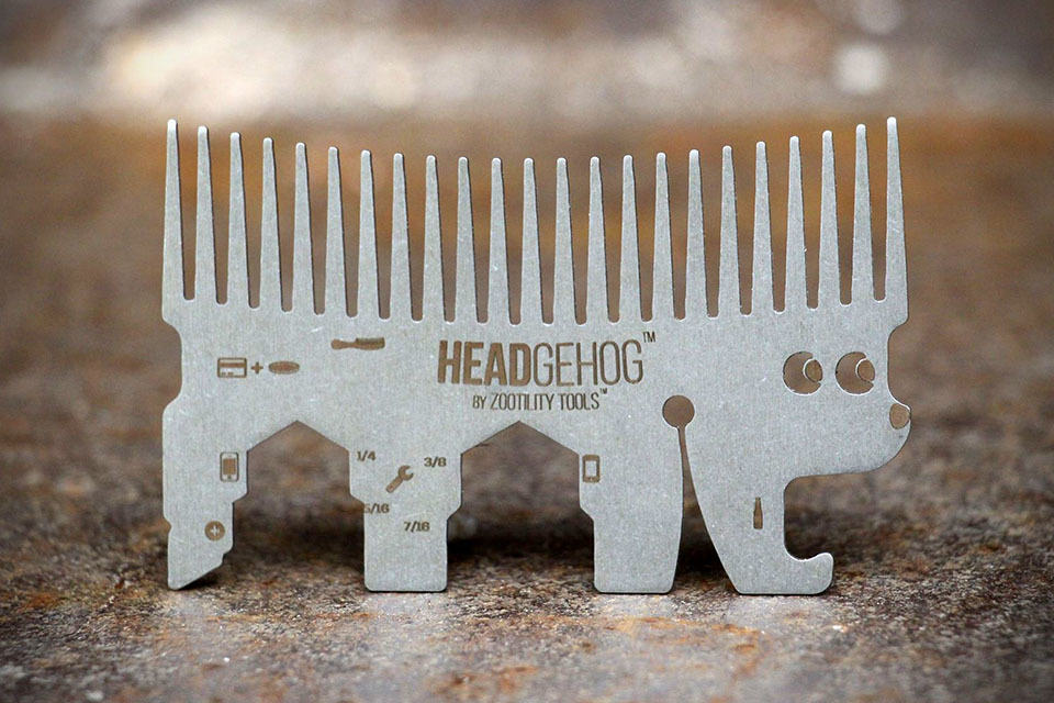 Headgehog Multi-functional Comb by ZootilityTool