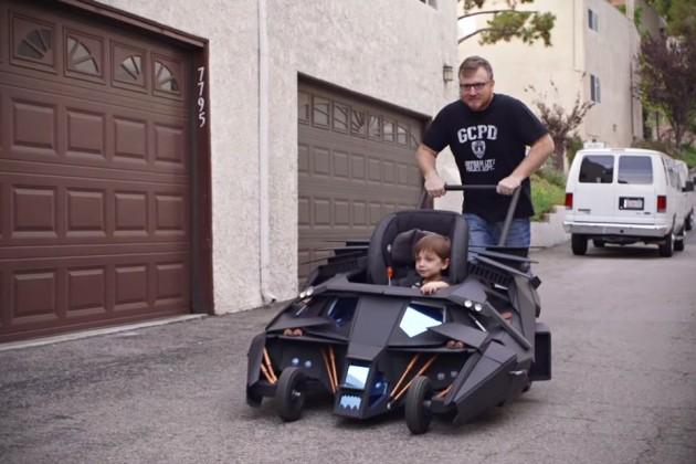 Custom Batmobile Tumbler Baby Stroller