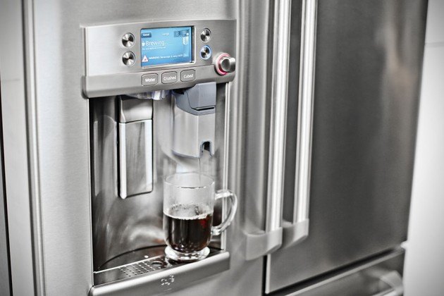 GE Café Series French Door Refrigerator with Keurig K-Cup Brewing System