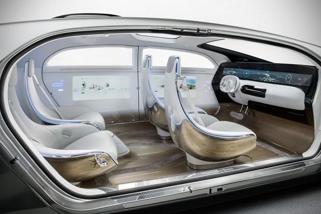 Mercedes-Benz F 015 Luxury in Motion Autonomous Concept at CES 2015