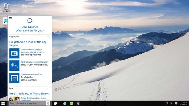 Microsoft Windows 10 Operating System - Cortana